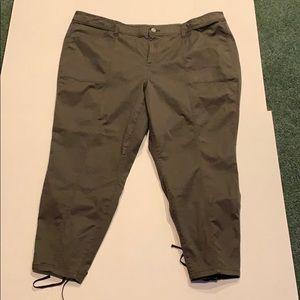 Plus size 28 Lane Bryant Olive Cargo Pants NWT